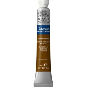 สีนํ้า COTMAN (WINSOR & NEWTON) 21 ML.#076 Burnt Umber