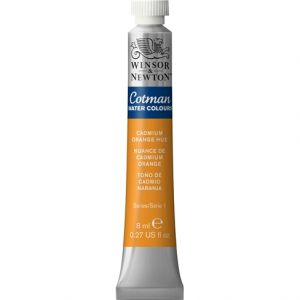 สีนํ้า COTMAN (WINSOR & NEWTON) 21 ML.#090 Cadmium Orange Hue