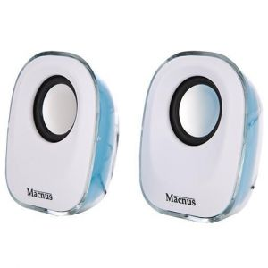 MACNUS ADL-037 (White-Blue) USB Mini Speaker 2.0